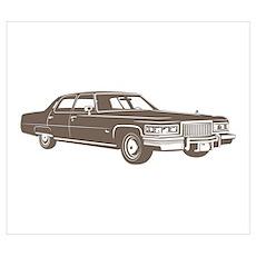 1975 Cadillac Fleetwood Poster
