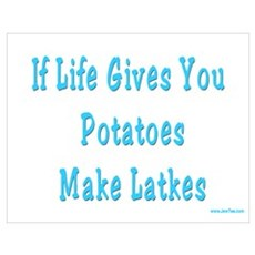 Make Latkes Hanukkah Poster