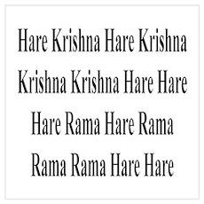 HARE KRISHNA MANTRA Poster