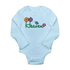 Heaven Flowers Long Sleeve Infant Bodysuit