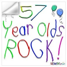 57 Year Olds Rock ! Wall Decal