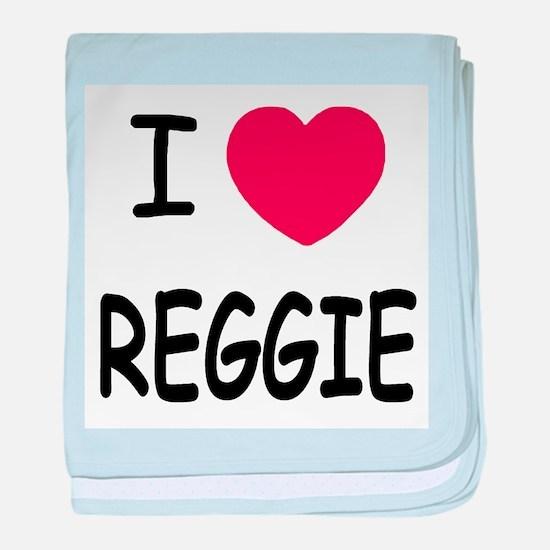 I heart Reggie baby blanket