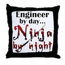 Engineer Ninja Throw Pillow