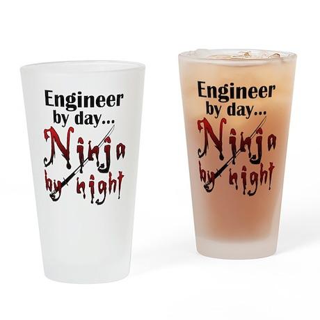 Engineer Ninja Drinking Glass