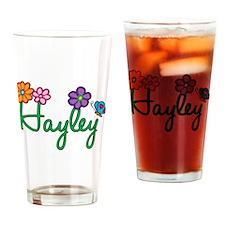 Hayley Flowers Drinking Glass