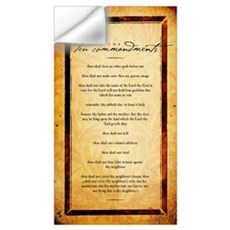 The Ten Commandments Artwork Wall Decal