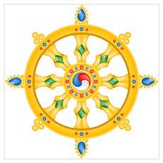 Dharmachakra wheel Poster