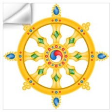 Dharmachakra wheel Wall Decal