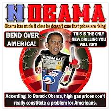 Obama anti oil Poster