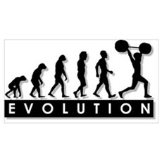 Evolution of Body Building Framed Print