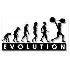 Evolution of Body Building Poster