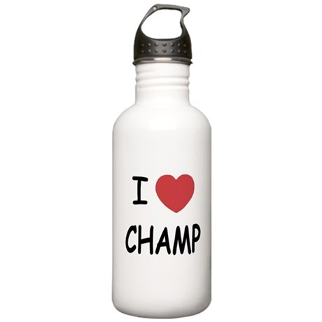 I heart Champ Stainless Water Bottle 1.0L