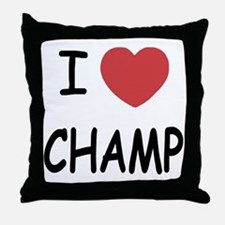I heart Champ Throw Pillow