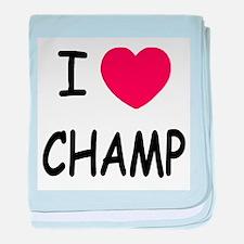 I heart Champ baby blanket
