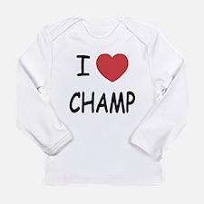 I heart Champ Long Sleeve Infant T-Shirt