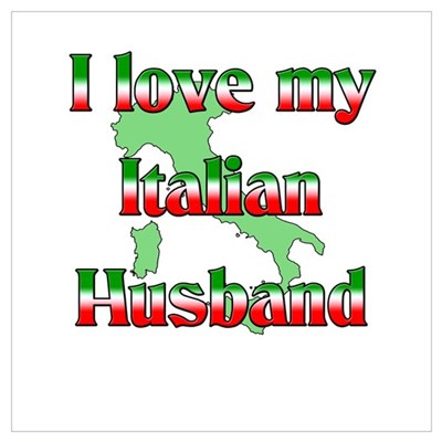 I Love My Italian Husband Canvas Art