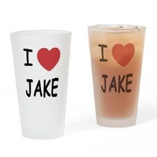 I heart Jake Drinking Glass