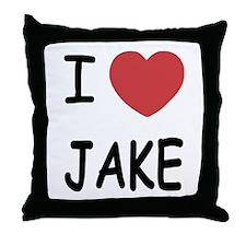 I heart Jake Throw Pillow