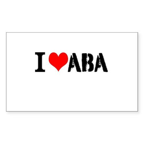 I Heart ABA Sticker (Rectangle)