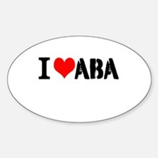 I Heart ABA Decal