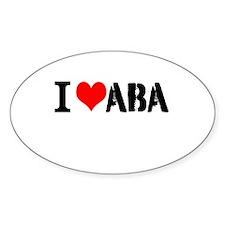 I Heart ABA Decal