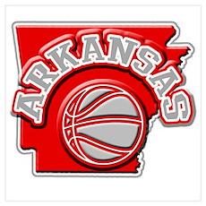 Arkansas Basketball Poster