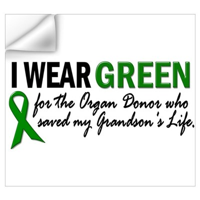 I Wear Green 2 (Grandson's Life) Wall Decal