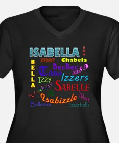 Isabella Women's Plus Size V-Neck Dark T-Shirt
