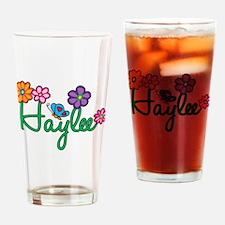 Haylee Flowers Drinking Glass