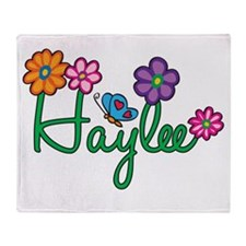 Haylee Flowers Throw Blanket