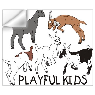 Playful Goat Kids Wall Decal