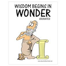 Wisdom Begins in Wonder Poster