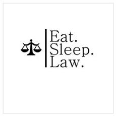 Eat. Sleep. Law. (Scales) Poster