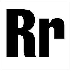 R Helvetica Alphabet Poster