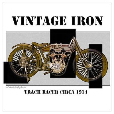 1914 Vintage Iron Poster