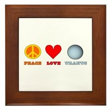 Peace Love Uranus Framed Tile