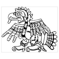 Maya Harpy Eagle Poster