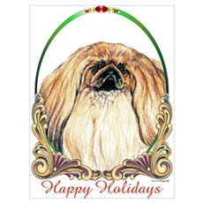 Pekingese Peke Holiday Framed Print
