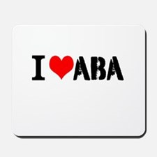 I Heart ABA Mousepad