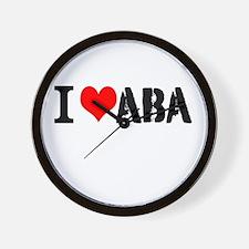 I Heart ABA Wall Clock