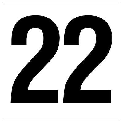 Number 22 Helvetica Poster