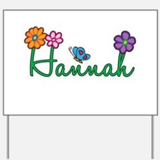 Hannah Flowers Yard Sign