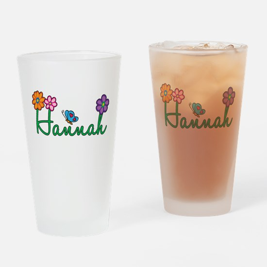 Hannah Flowers Drinking Glass