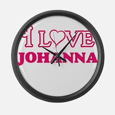I Love Johanna Large Wall Clock