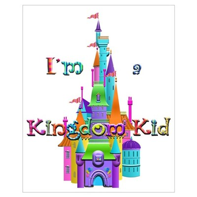 Kingdom Kid w/ Castle Image Framed Print