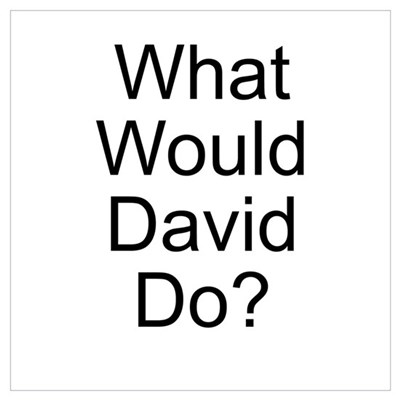 What Would David Do? Canvas Art