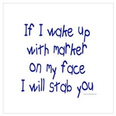 Marker on My Face Stab You Framed Print