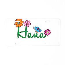 Hana Flowers Aluminum License Plate