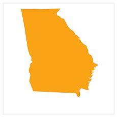 Orange Georgia Poster