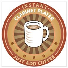 Instant Clarinet Player Poster